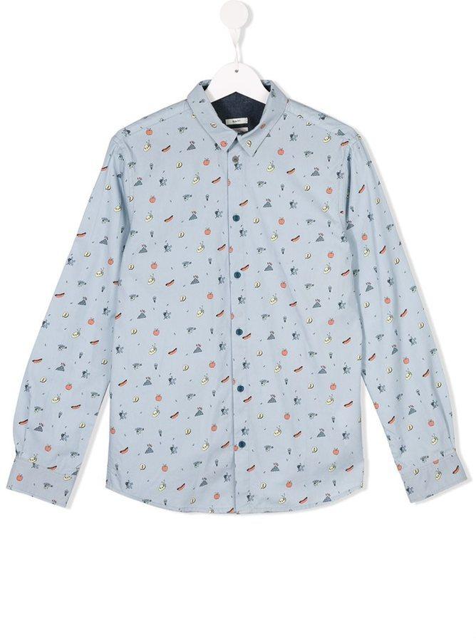 Детская голубая рубашка с длинным рукавом для мальчиков от Paul Smith
