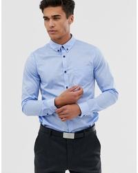 Мужская голубая рубашка с длинным рукавом от Pier One