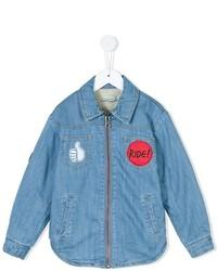 Детская голубая рубашка с длинным рукавом для мальчиков от Stella McCartney