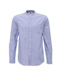 Мужская голубая рубашка с длинным рукавом от Topman