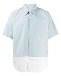 Мужская голубая рубашка с коротким рукавом от Ami Paris
