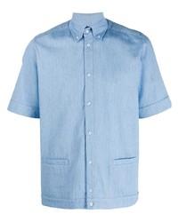 Мужская голубая рубашка с коротким рукавом от Anglozine