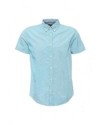 Мужская голубая рубашка с коротким рукавом от Baon