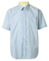 Мужская голубая рубашка с коротким рукавом от CK Calvin Klein
