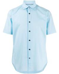 Мужская голубая рубашка с коротким рукавом от D'urban