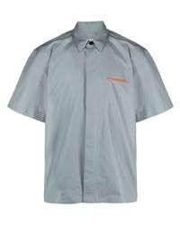 Мужская голубая рубашка с коротким рукавом от Jil Sander