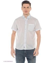 Мужская голубая рубашка с коротким рукавом от Mavango