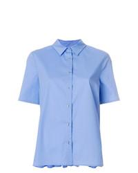 Женская голубая рубашка с коротким рукавом от Twin-Set