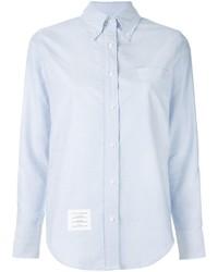 Женская голубая рубашка от Thom Browne
