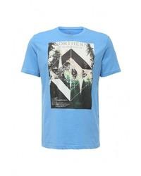 Мужская голубая футболка с круглым вырезом от Tom Tailor