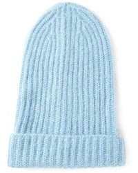 Женская голубая шапка