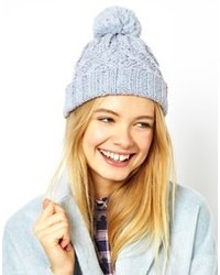 Женская голубая шапка от Asos