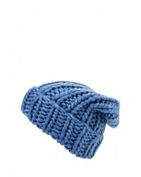 Женская голубая шапка от Befree