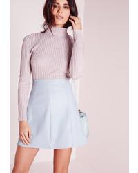 514612de1132 С чем носить голубую юбку-трапецию? Модные луки (2 фото) | Женская ...