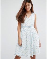 Женское голубое кружевное платье с плиссированной юбкой от Darling