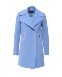 Женское голубое пальто от Grand Style
