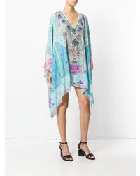 Голубое пляжное платье с принтом от Camilla