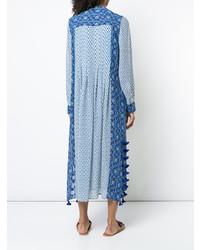 Голубое пляжное платье с принтом от Figue