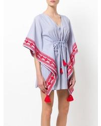 Голубое пляжное платье от Tory Burch