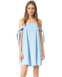 Голубое свободное платье от Rebecca Minkoff