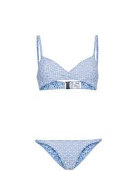 Голубой бикини-топ от Lisa Marie Fernandez