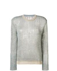 Женский голубой вязаный свитер от Forte Forte