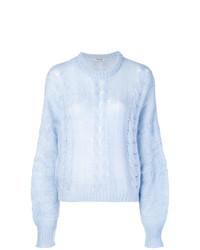 Женский голубой вязаный свитер от Miu Miu