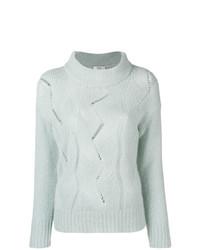 Женский голубой вязаный свитер от Peserico