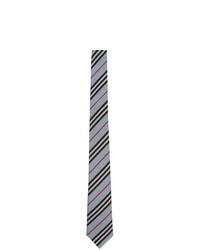 Мужской голубой галстук в горизонтальную полоску от Burberry