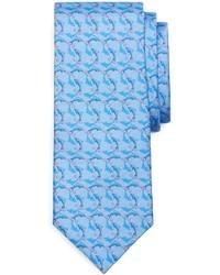 Голубой галстук с принтом