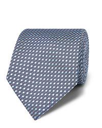 Мужской голубой галстук с принтом от Brioni