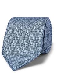 Мужской голубой галстук с принтом от Canali