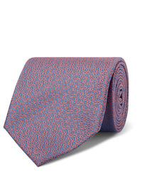 Мужской голубой галстук с принтом от Charvet