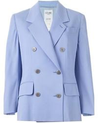 Голубой двубортный пиджак