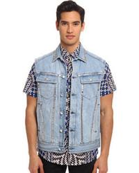 Голубой джинсовый жилет