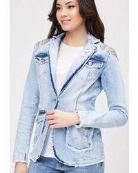 Женский голубой джинсовый пиджак от DSHE