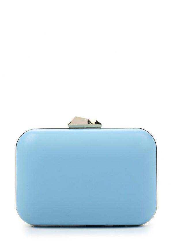 752dcdc3603d Голубой кожаный клатч от Olga Berg, 5 390 руб.   Lamoda   Лукастик