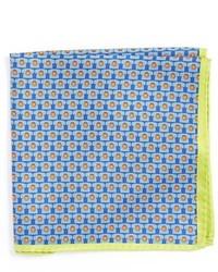Голубой нагрудный платок с принтом