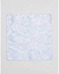 Мужской голубой нагрудный платок с цветочным принтом от Asos