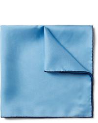 Мужской голубой нагрудный платок