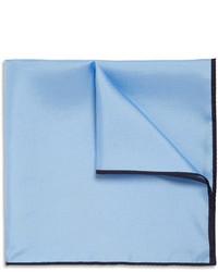 Мужской голубой нагрудный платок от Drakes