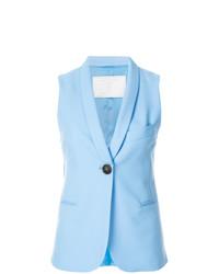 Женский голубой пиджак без рукавов от Societe Anonyme
