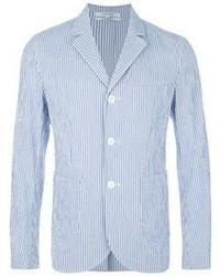Голубой пиджак из жатого хлопка