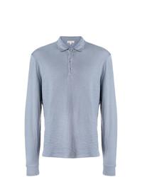 Мужской голубой свитер с воротником поло от Alex Mill