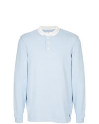 Мужской голубой свитер с воротником поло от Kent & Curwen