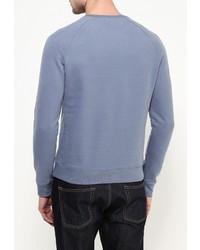 Мужской голубой свитер с круглым вырезом от Topman