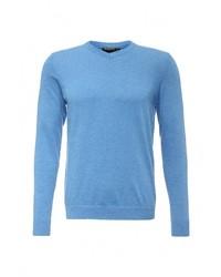 Мужской голубой свитер с v-образным вырезом от Baon