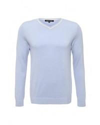 Мужской голубой свитер с v-образным вырезом от Tom Farr