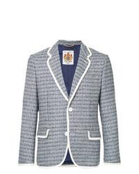 Голубой твидовый пиджак