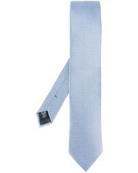 Мужской голубой шелковый галстук с принтом от Ermenegildo Zegna